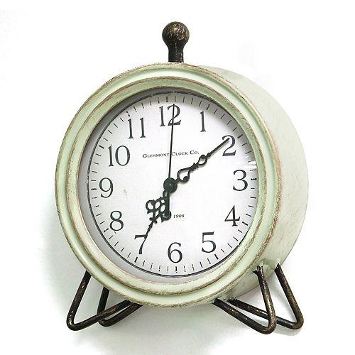 Stratton Home Decor Rustic Round Clock Table Decor