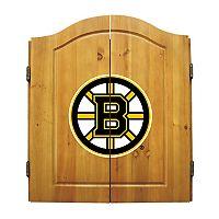 Boston Bruins Dartboard Cabinet