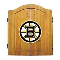 Boston Bruins Dartboard Cabinet