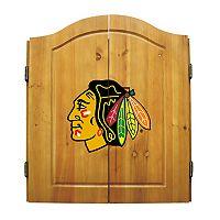 Chicago Blackhawks Dartboard Cabinet