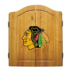 Chicago Blackhawks Dartboard Cabinet