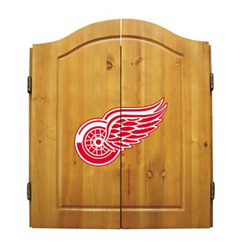 Detroit Red Wings Dartboard Cabinet