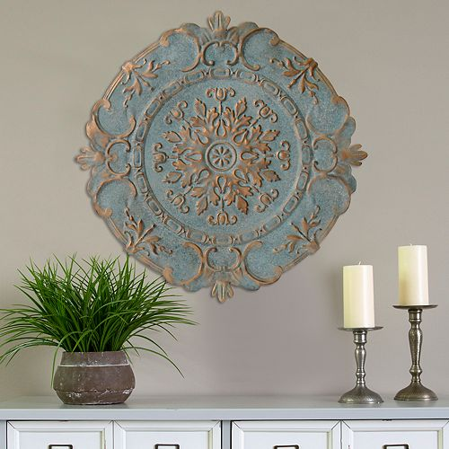 Stratton Home Decor Blue Medallion Wall Decor