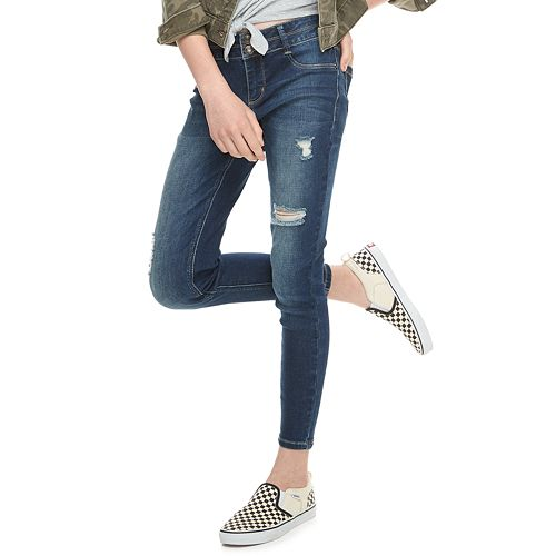 Girls 6-16 & Plus Size Mudd® Midrise Double Button Jeggings