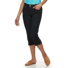 Women's Dana Buchman Button-Hem Capri Jeans