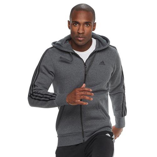 Big & Tall adidas Full-Zip Fleece Hoodie