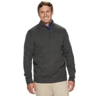 Big & Tall Croft & Barrow® Classic-Fit 7GG Super Soft Quarter-Zip Pullover Sweater