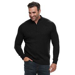 Big & Tall Croft & Barrow® Classic-Fit 7GG Super Soft Quarter-Zip Pullover Sweater