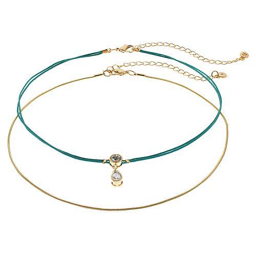 LC Lauren Conrad Multi Color Choker Necklace Set