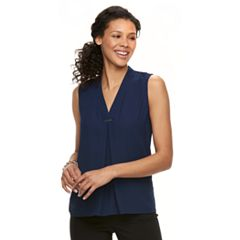Women's Dana Buchman Pleated Sleeveless Top