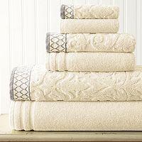 Damask Jacquard 6-piece Bath Towel Set