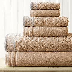 Damask Jacquard 6-piece Bath Towel Set