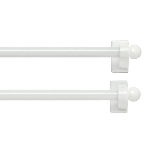 Bali 2-pack Magnetic Curtain Rod - 7''-14''