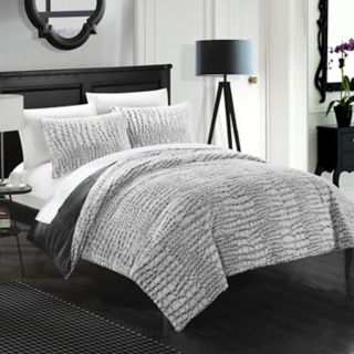 Alligator Faux Fur 3-piece Queen Comforter Set