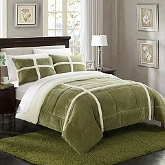 Chloe Sherpa Fleece Comforter Set