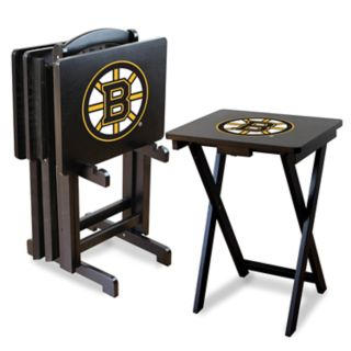 Boston Bruins TV Tray Stands with Rack