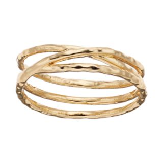 LC Lauren Conrad Hammered X Ring