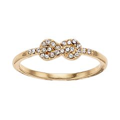 LC Lauren Conrad Pave Simulated Crystal Ring
