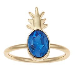 LC Lauren Conrad Blue Pineapple Ring