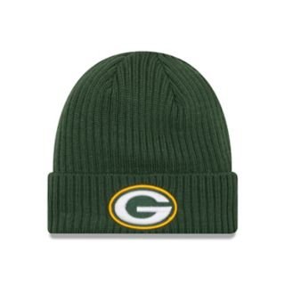 Adult New Era Green Bay Packers Core Classic Knit Beanie