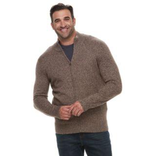 Big & Tall Croft & Barrow® Classic-Fit 7GG Super Soft Full-Zip Sweater
