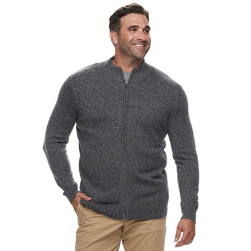 Big & Tall Croft & Barrow® Classic-Fit 7GG Super Soft Full-Zip Sweater