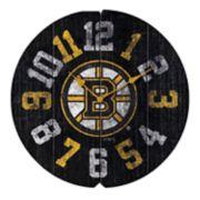 Boston Bruins Vintage Round Clock