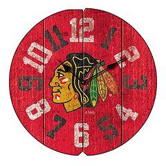 Chicago Blackhawks Vintage Round Clock