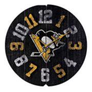 Pittsburgh Penguins Vintage Round Clock