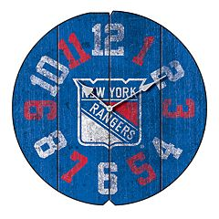 New York Rangers Vintage Round Clock