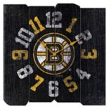 Boston Bruins Vintage Square Clock
