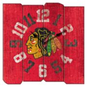 Chicago Blackhawks Vintage Square Clock
