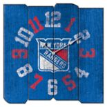 New York Rangers Vintage Square Clock