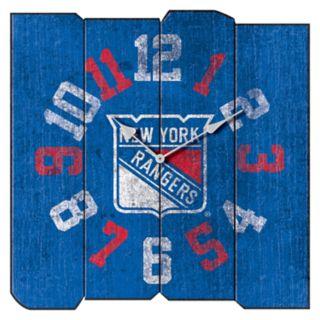New York Rangers Vintage Square Clock