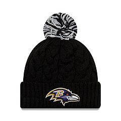 Adult New Era Baltimore Ravens Cable Knit Beanie