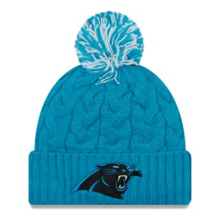 Adult New Era Carolina Panthers Cable Knit Beanie