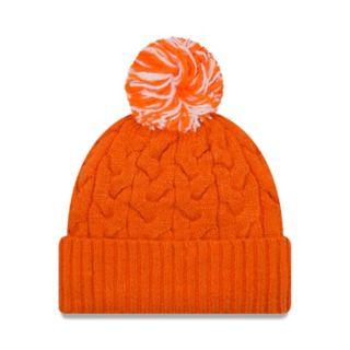 Adult New Era Denver Broncos Cable Knit Beanie