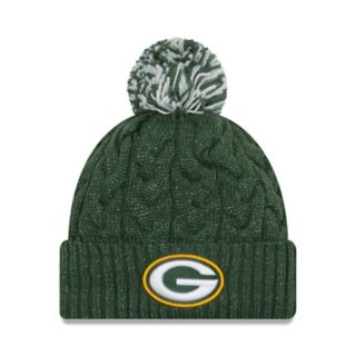 Adult New Era Green Bay Packers Cable Knit Beanie