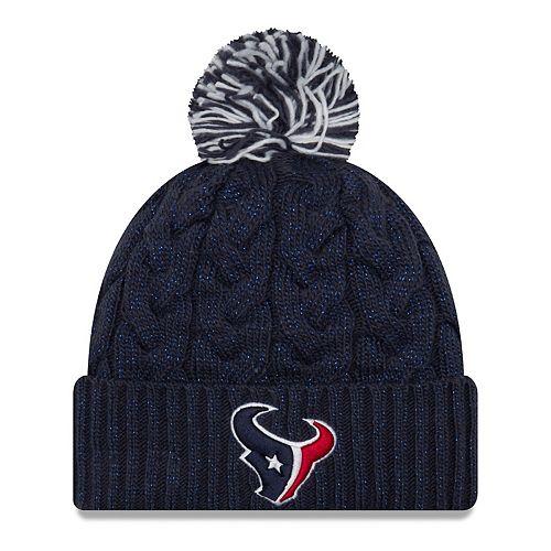 Adult New Era Houston Texans Cable Knit Beanie