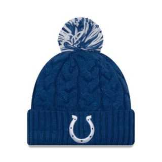 Adult New Era Indianapolis Colts Cable Knit Beanie