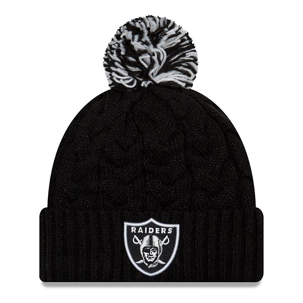 Adult New Era Oakland Raiders Cable Knit Beanie