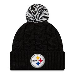 Adult New Era Pittsburgh Steelers Cable Knit Beanie