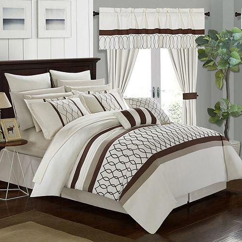 Dinah 24-piece Bedding & Window Curtain Set