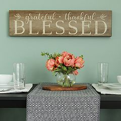 Stratton Home Decor 'Blessed' Rustic Wall Decor