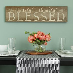 "Stratton Home Decor ""Blessed"" Rustic Wall Decor"