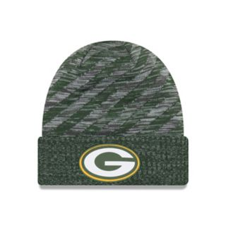 Adult New Era Green Bay Packers Striped Knit Beanie