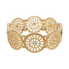 LC Lauren Conrad Medallion Stretch Bracelet
