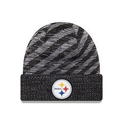 Adult New Era Pittsburgh Steelers Striped Knit Beanie