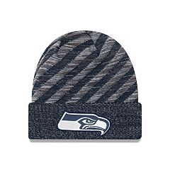 Adult New Era Seattle Seahawks Striped Knit Beanie