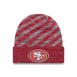 Adult New Era San Francisco 49ers Striped Knit Beanie